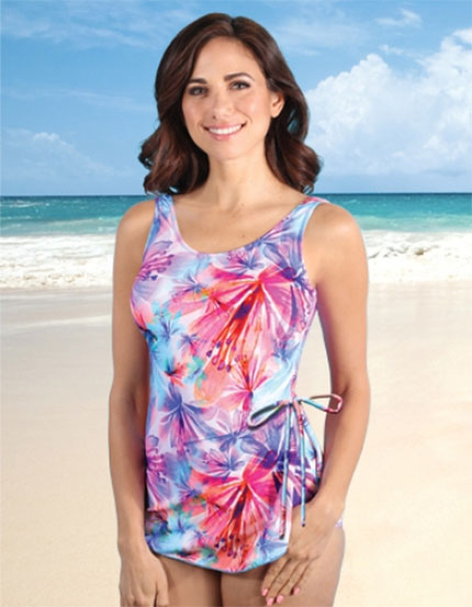 Jodee Floral Sunrise Sarong Swimsuit